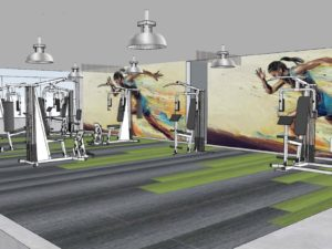 Axis Rending of Fitness Center