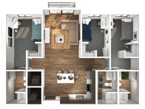 Axis 3 Bedroom Floor Plan