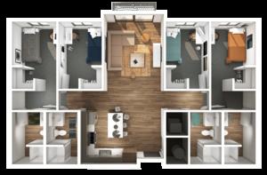 Axis 3D Floor Plan Rending