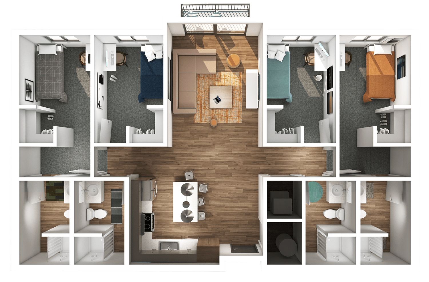 Axis 3D Floor Plan Rending